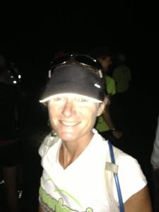 Smiling at the beginning of the Vermont 100!