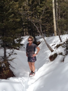 In the snow about 9000'.