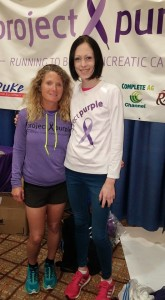 With Coach Jane, who also happens to be a pancreatic cancer researcher!