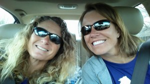 Jenny & I on our way to our Thelma & Louise weekend, but sadly, we did not find Brad Pitt anywhere.