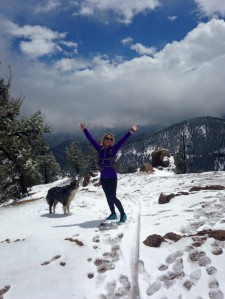 Even a slog through the snow in May can be fun.