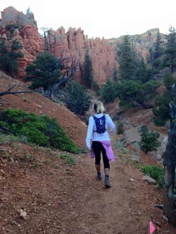 The final long, steep climb