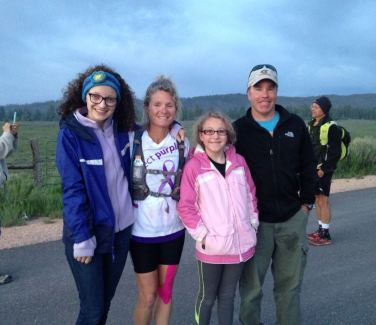 The family at the race start.