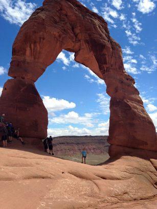 Peyton underneath Delicate Arch