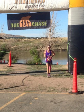 Crossing the finish line. So happy!