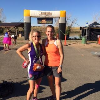 With Kathy, who finished her first ultramarathon! So proud of her!