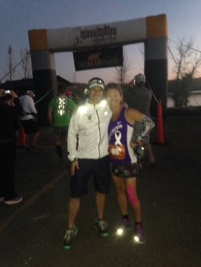 At the start receiving my annual pre-race hug from RD extraordinaire, Ben Reeves