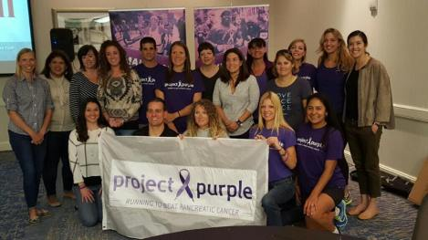 Several of the Project Purple Denver team members at the event.