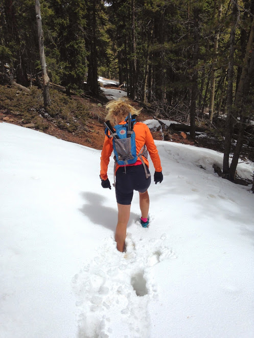 bryce training in snow